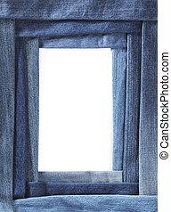 Denim frame - Frame made of different blue denim fabrics
