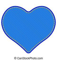 Denim heart symbol - Illustration of the denim heart symbol
