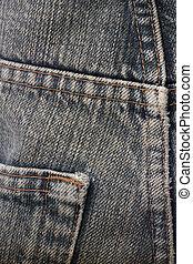denim, materiale, jean, fondo