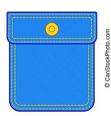 Denim pocket illustration - Illustration of the denim pocket...