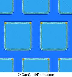 Denim pocket pattern - Seamless pattern of the denim pockets