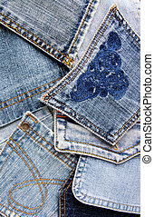 denim pockets - background from denim pockets