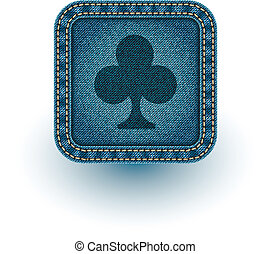 Denim poker. Vector illustration. Eps10