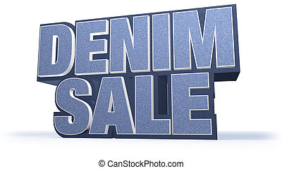 Denim Sale Jeans Sales Campaign Title in Huge Letters...