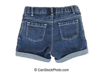 Denim Shorts - A close up shot of denim shorts