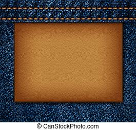 Denim texture. EPS10 vector