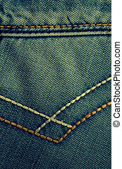 Denim texture with the effect of aging