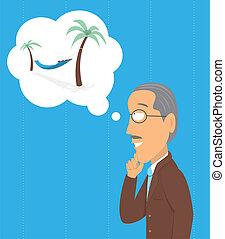 denken, älter, pensionierung