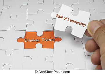 denken, concept, -, bewindvoering, strategisch