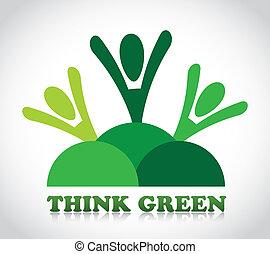 denken, groene