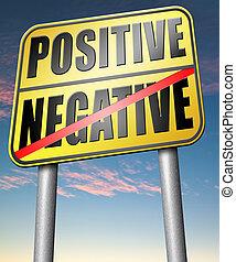 denken, positiv, negativ, oder