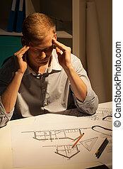 denken, projekt, über, architekt