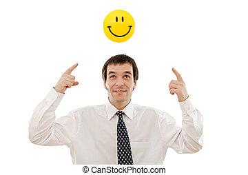 denken, zakenman, positief