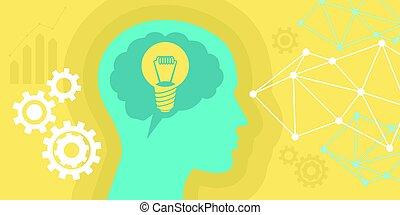 denken, zwiebel, idee, abbildung, leute
