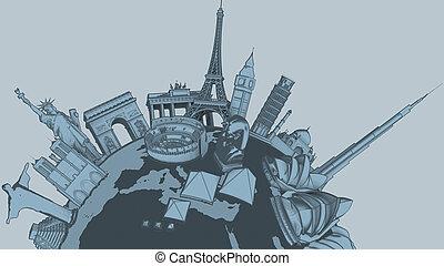 denkmäler, toon, -, auf, v1, version, schließen, welt