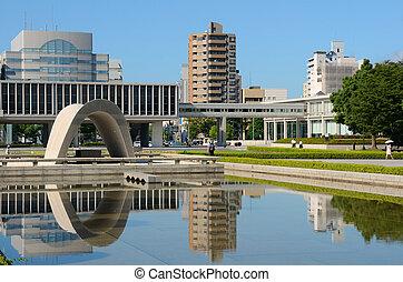 denkmal, hiroshima, park, frieden