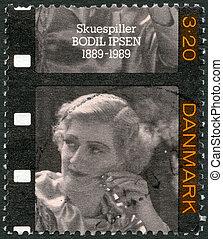 DENMARK - 1989: shows Bodil Ipsen (1889-1964), actress - ...