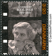 DENMARK - 1989: shows Bodil Ipsen (1889-1964), actress -...
