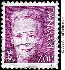 DENMARK - CIRCA 2000 Queen Margrethe II - DENMARK - CIRCA...
