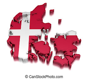 Denmark (clipping path included)