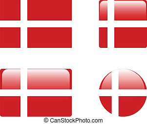 Denmark flag & buttons