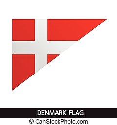 Denmark flag design illustration
