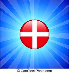Denmark Flag Icon on Internet Button