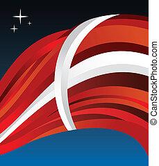Denmark flag illustration background