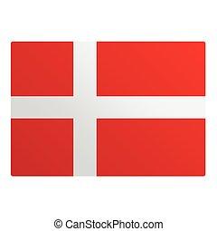 Denmark flag illustration design