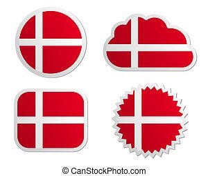Denmark flag labels