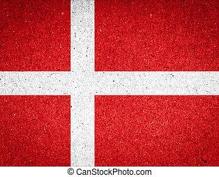 Denmark flag on paper background