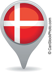 denmark flag pointer