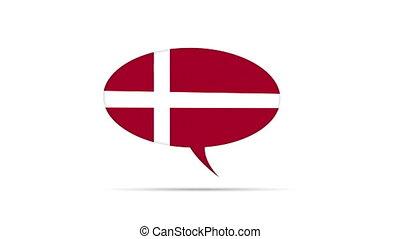 Denmark Flag Speech Bubble
