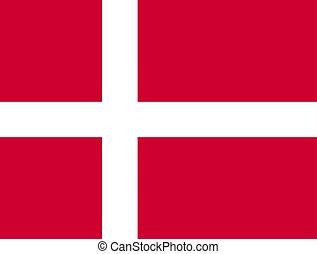 Denmark flag , vector illustration