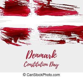 Denmark grunge flag background
