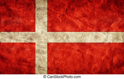 Denmark grunge flag. Item from my vintage, retro flags collection