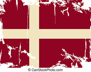 Denmark grunge flag. Vector illustration