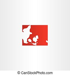 denmark logo map icon vector