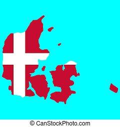 Denmark map flag Vector illustration. EPS10