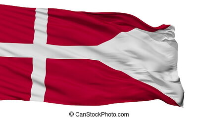 Denmark Naval Ensign Flag Isolated Seamless Loop - Naval...