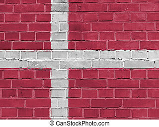 Denmark Politics Concept: Danish Flag Wall