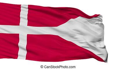 Denmark State Flag Isolated Seamless Loop - Denmark State...