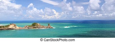 Dennery Bay - Saint Lucia - Panoramic view of Dennery Bay on...