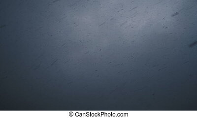 Dense falling snow on sky background - Dense falling snow on...