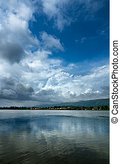 dense, nuage ciel