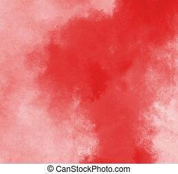 dense, rouges, fumée