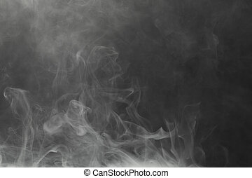 dense smoke on black background