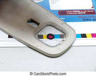 densitometer in a printer workshop