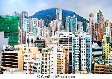 Density Hong Kong - Skyscrapers in Hong Kong. HK is one of...