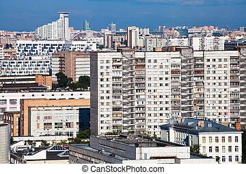 denso, residencial, desarrollo, en, moscú